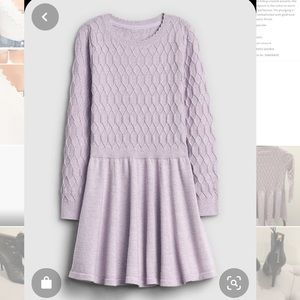 Gap Kids fit and flare sweater dress / NWT